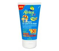 Africa Kids Крем на суше и на море для чувств. детской кожи Эфф. защита от солнечных ожогов (SPF30), 150мл (Ф-410)
