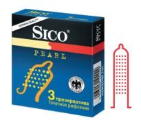 Презервативы Sico PEARL с точечным рифлением 3 шт.