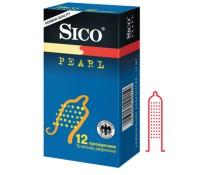 Презервативы Sico PEARL с точечным рифлением 12 шт.