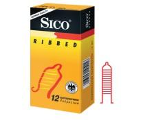 Презервативы Sico RIBBED с кольцевым рифлением 12 шт.