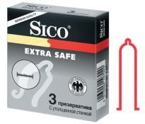 Презервативы Sico EXTRA SAFE с утолщенной стенкой 3 шт.