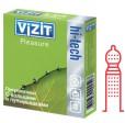 Презервативы VIZIT hi-tech Pleasure контурные с точечным и кольцевым рифлением 3 шт.