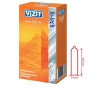 Презервативы VIZIT hi-tech Comfort XL увеличенного размера 12 шт.