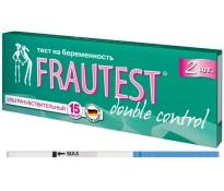 Тест на определение беременности FRAUTEST double control тест-полоска 2 шт.