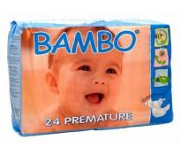 BAMBO Подгузники детские 0 для недоношенных 1-3 кг, 24шт