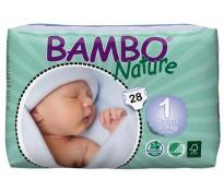 BAMBO Подгузники детские для новорожденных размер 1 (2-4 кг), 28шт