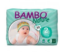 BAMBO Подгузники детские Mini размер 2 (3-6 кг), 30шт