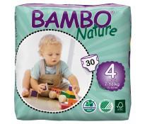 BAMBO Nature Подгузники детские Maxi размер 4 (7-18 кг), 30шт