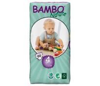 BAMBO Nature Подгузники детские Maxi размер 4 (7-18 кг), 60шт эконом упаковка