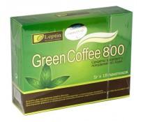 Лептин Зеленый кофе для похудения 800, пак 18х5г
